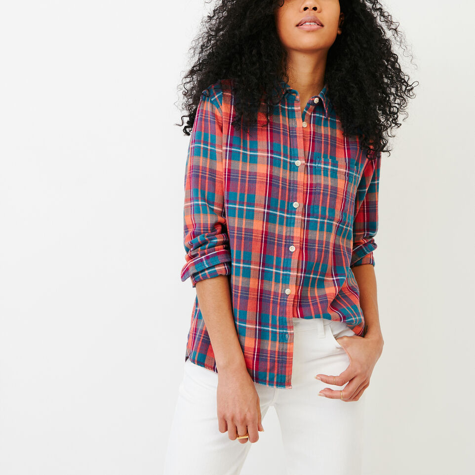 Roots-Women Our Favourite New Arrivals-All Seasons Relaxed Shirt-Spiced Coral-A