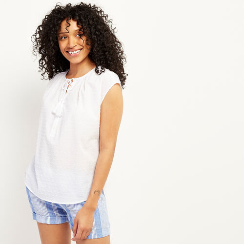 Roots-Soldes Hauts-Blouse Laurel Creek-Blanc-A