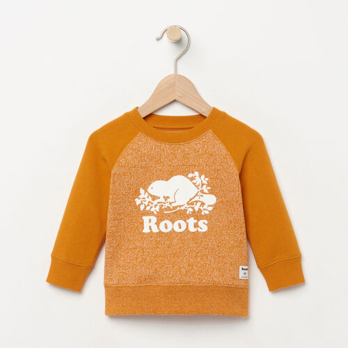 Roots-New For August Baby-Baby Original Crewneck Sweatshirt-Squash Yellow Pepper-A