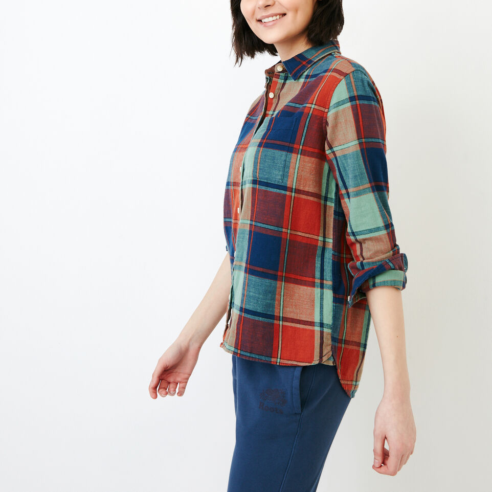 Roots-Clearance Women-All Seasons Relaxed Shirt-Jaffa Orange-C