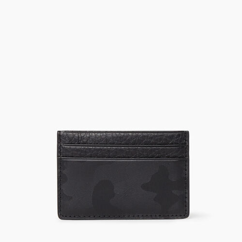 Roots-Leather New Arrivals-Card Holder Camo-Black Camo-A