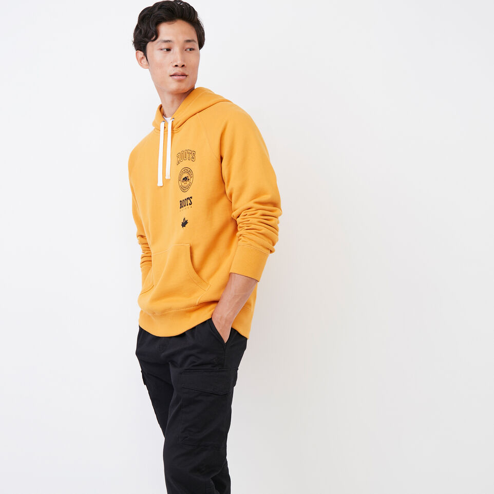 Roots-Men Our Favourite New Arrivals-Stamps Kanga Hoody-Squash Yellow-C