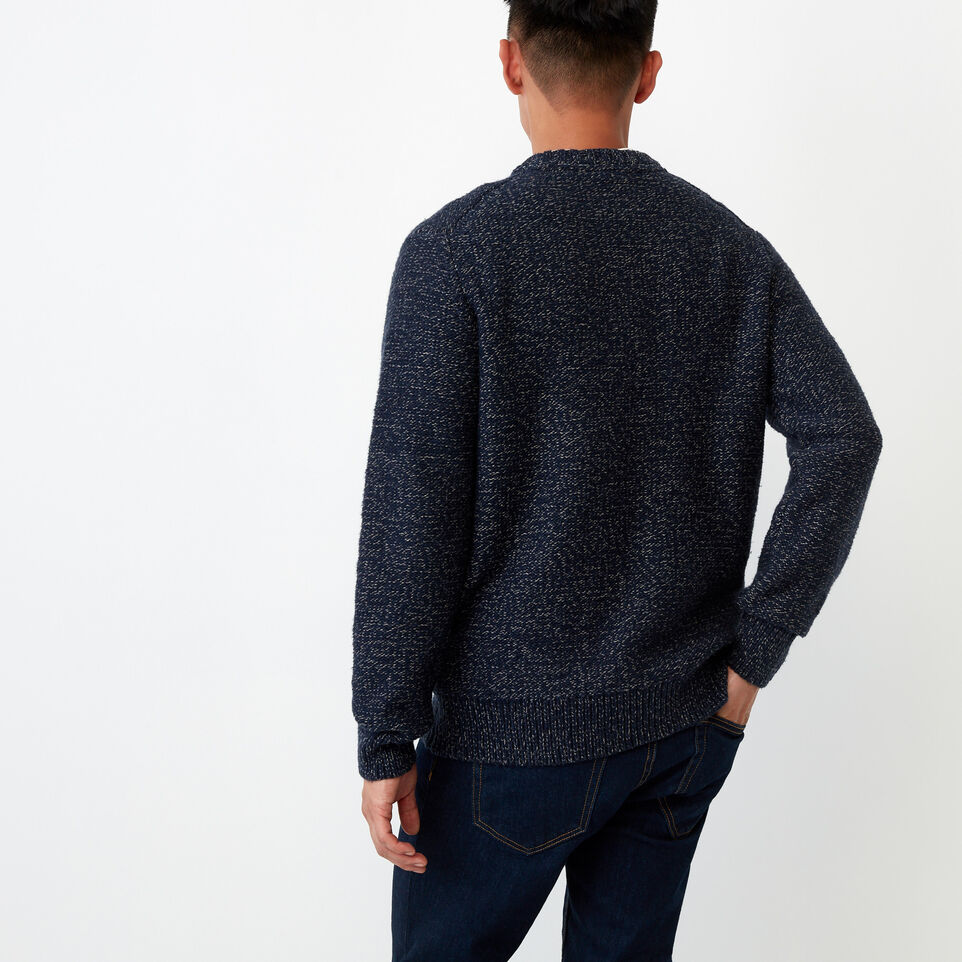 Roots-Winter Sale Men-Snowy Fox Crew Sweater-Navy Fox-D