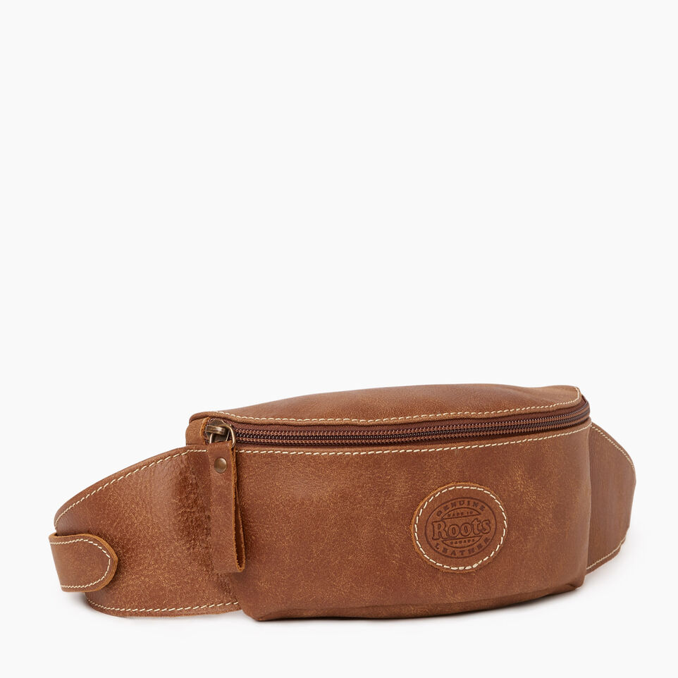 Roots-Leather Our Favourite New Arrivals-Small Fanny Pack-Natural-A