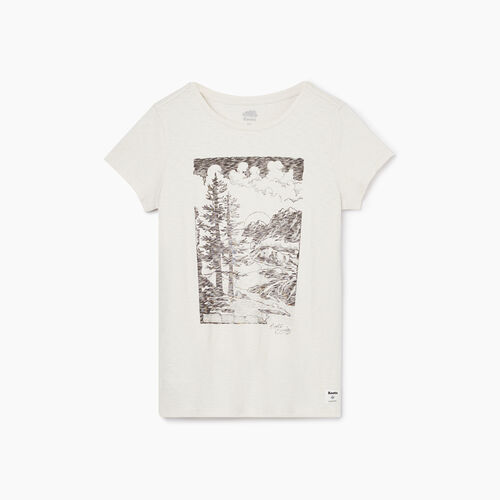 Roots-Women Graphic T-shirts-Womens Huxley Boyfriend T-shirt-Vapourous Gray-A