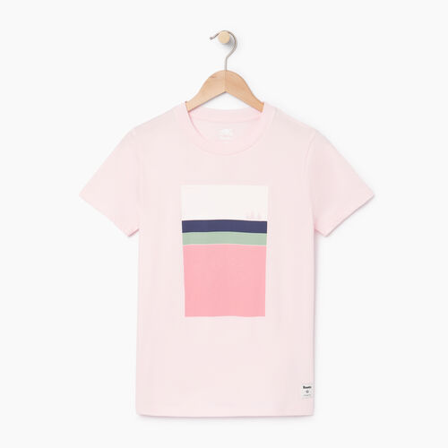 Roots-Women Graphic T-shirts-Womens Landscape T-shirt-Cradle Pink-A