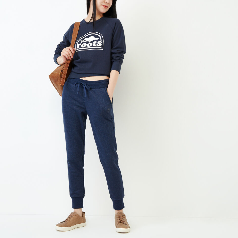 Roots-Women Our Favourite New Arrivals-Vault Relaxed Crew Sweatshirt-Graphite Mix-B