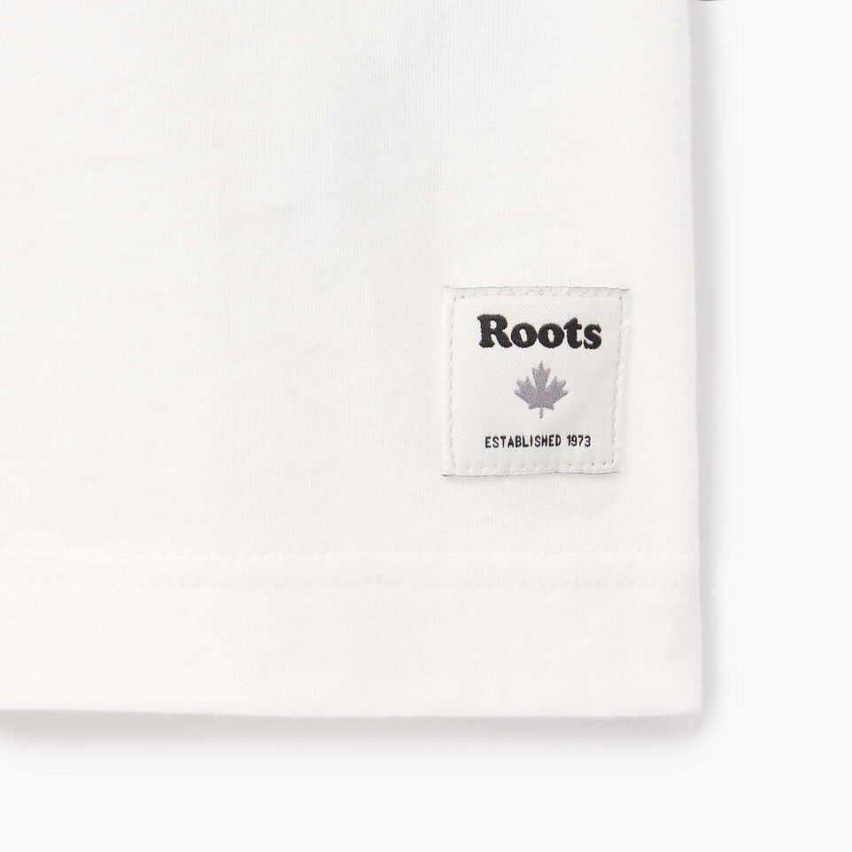 Roots-Men Our Favourite New Arrivals-Mens Rainbow T-shirt-Ivory-C