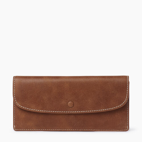 Roots-Women Wallets-Riverdale Slim Wallet-Natural-A