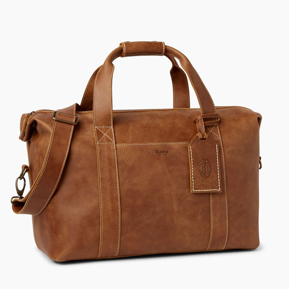 Roots-Leather Bestsellers-Whistler Weekender-Natural-A