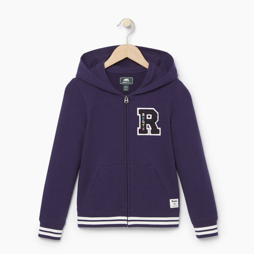 Roots-Kids Categories-Girls Alumni Full Zip Hoody-Eclipse-A
