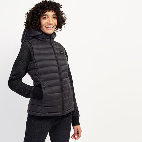 Roots-Women Outerwear-Roots Packable Vest-Black-A