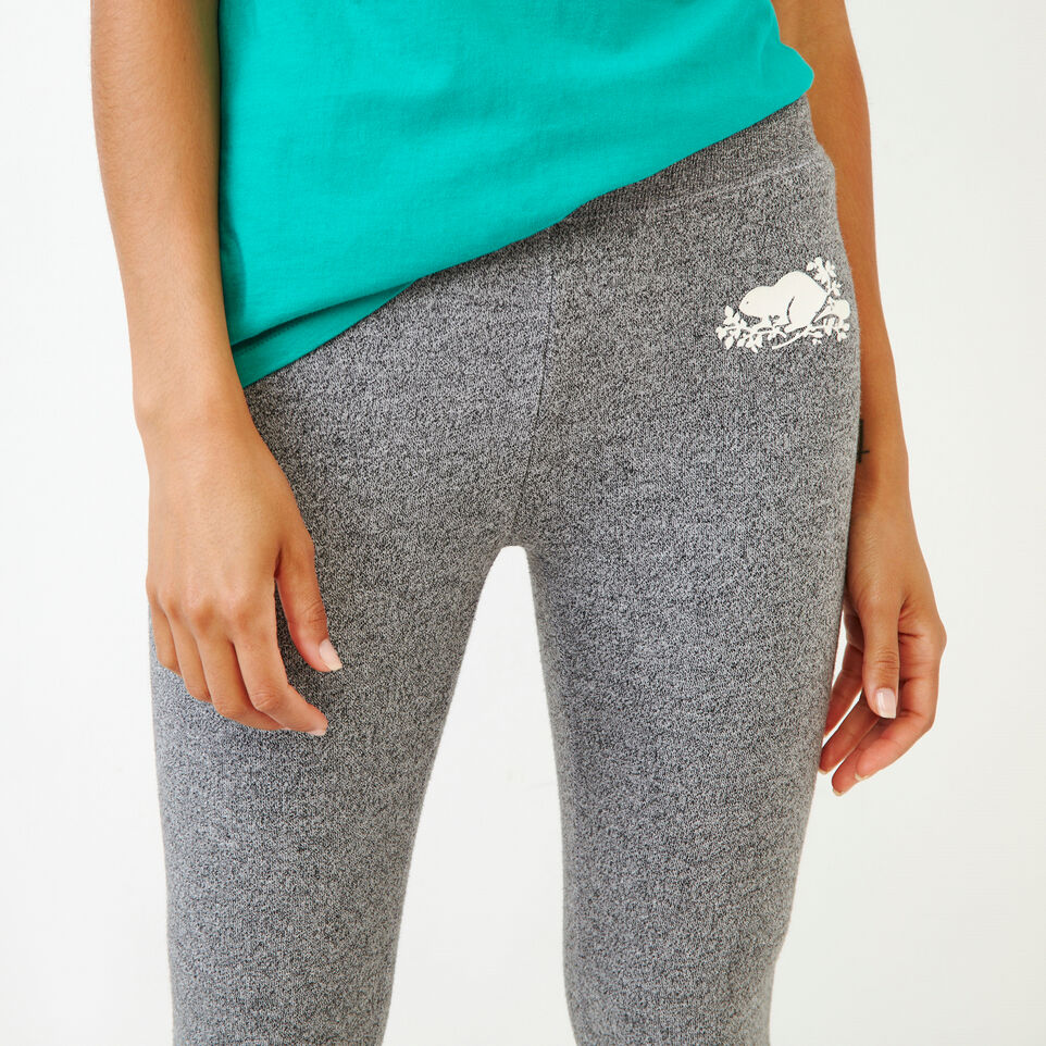 Roots-Women Categories-Cozy Fleece Skinny Sweatpant-Salt & Pepper-E