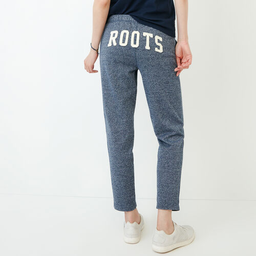 Roots-Clearance Women-Roots Ankle Sweatpant-Navy Blazer Pepper-A