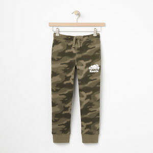 Roots-Kids Sweats-Boys Blurred Camo Slim Sweatpant-Dusty Olive-A