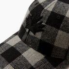 Roots-New For December Today Only: 40% Off Park Plaid Collection-Park Plaid Leaf Baseball Cap-Grey Mix-D