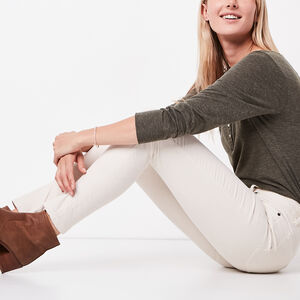 Roots-Sale Bottoms-Stretch Riley Cord-Birch White-A
