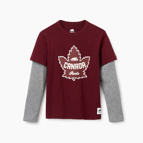 Roots-Kids Our Favourite New Arrivals-Boys Canada T-shirt-Northern Red-A