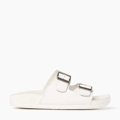 Roots-Women Footwear-Womens Cobourg Sandal-White-A
