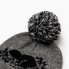 Roots-Men Categories-Cooper Beaver Pom Pom Toque-Salt & Pepper-D