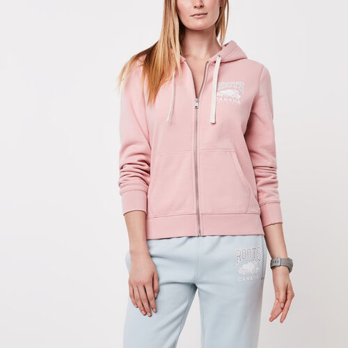 Roots-Sale Sweats-Classic Full Zip Hoody-Silver Pink-A