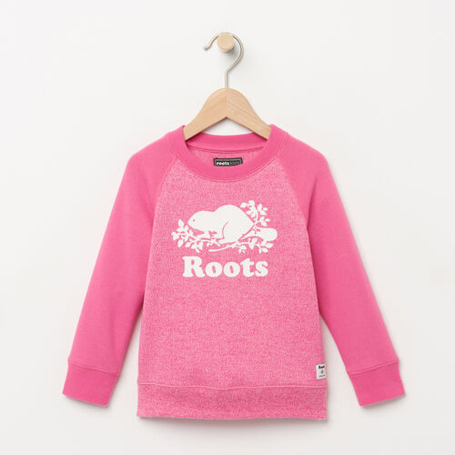 Roots-Kids Tops-Toddler Original Crewneck Sweatshirt-Azalea Pink Pepper-A