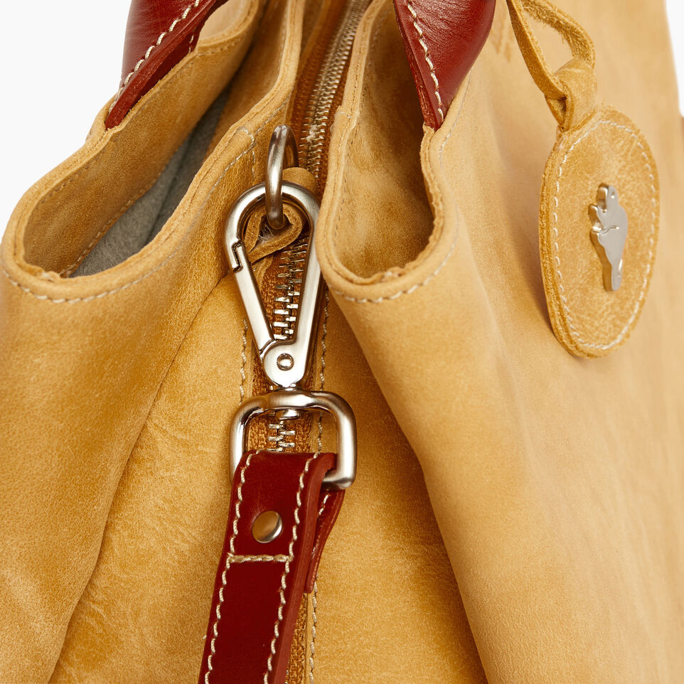 Roots-Leather  Handcrafted By Us Categories-Mont Royal Bag-Medallion/oak-E