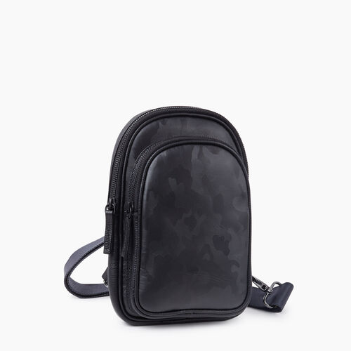 Roots-Leather Crossbody-Trinity Sling Camo-Black Camo-A