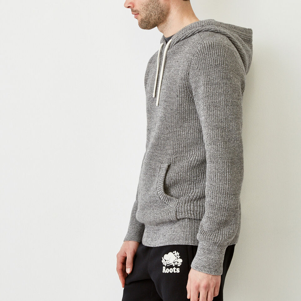 Roots-Men Our Favourite New Arrivals-Baffin Shaker Hoody-Sharkskin Mix-C