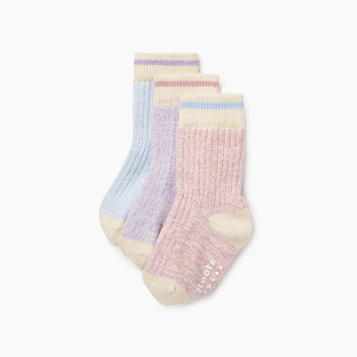 Roots-Kids Our Favourite New Arrivals-Toddler Cabin Sock 3 Pack-Pink-A