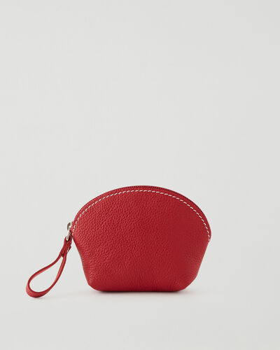 Roots-Leather New Arrivals-Small Euro Pouch Cervino-Lipstick Red-A