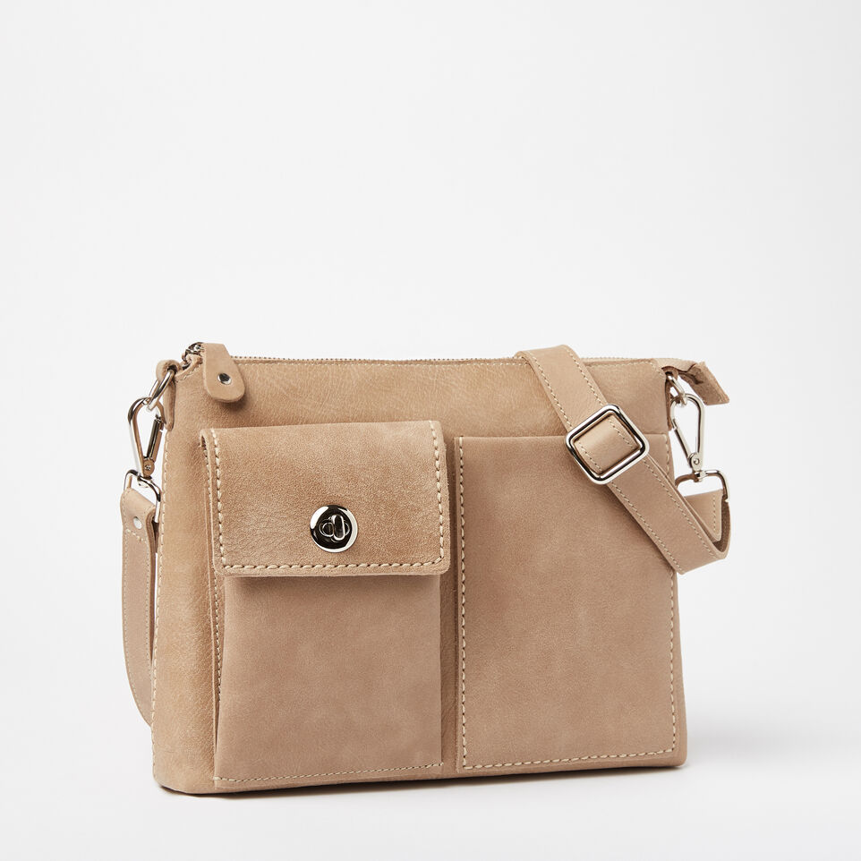 Roots-Leather Handbags-The Villager Tribe-Sand-A