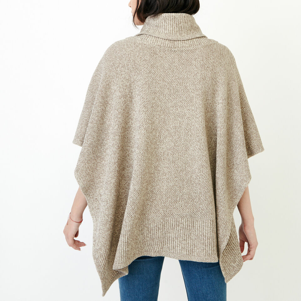 Roots-Women Categories-Nahanni Poncho-Flaxseed Mix-D