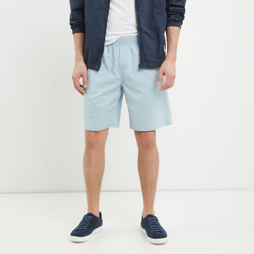 Roots-Men Shorts-Hemp Pull On Short-Celestial Blue-A
