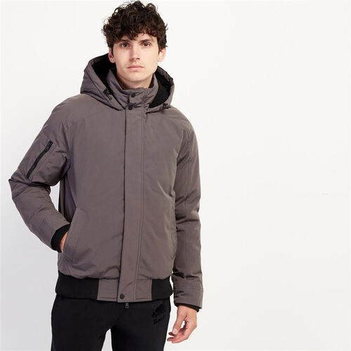Roots-Men New Arrivals-Tobermory Down Jacket-Forged Iron-A