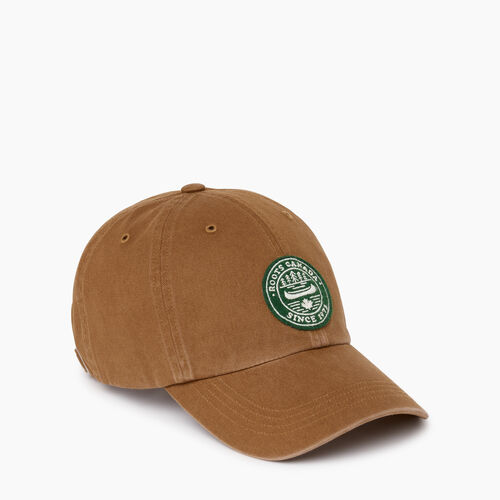 Roots-Men Accessories-Badge Baseball Cap-Tan-A