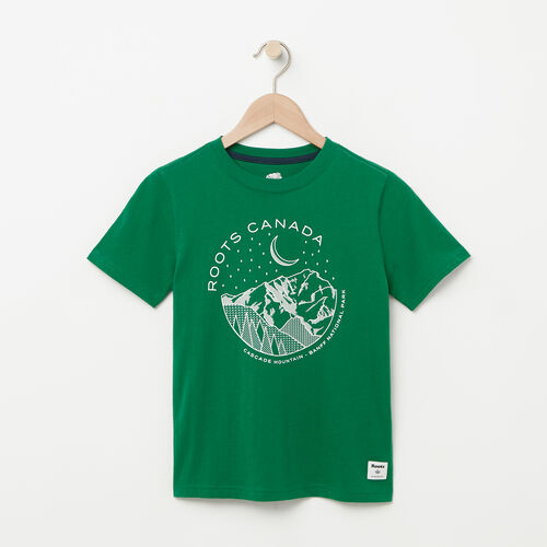 Roots-Kids Graphic T-shirts-Boys Glow In The Dark T-shirt-Verdant Green-A