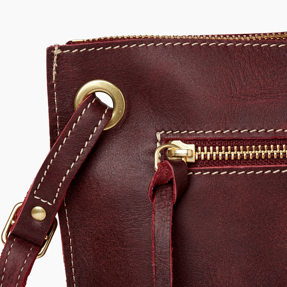 Roots-Leather  Handcrafted By Us Handbags-Festival Bag Tribe-Crimson-E