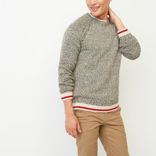 Roots-Men Our Favourite New Arrivals-Roots Cotton Cabin Crew Sweatshirt-Speckle-A