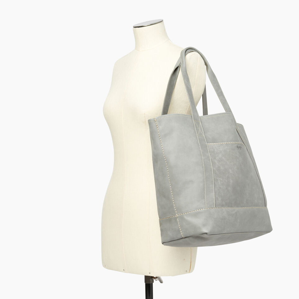 Roots-Leather  Handcrafted By Us Handbags-Muskoka Tote-Quartz-B