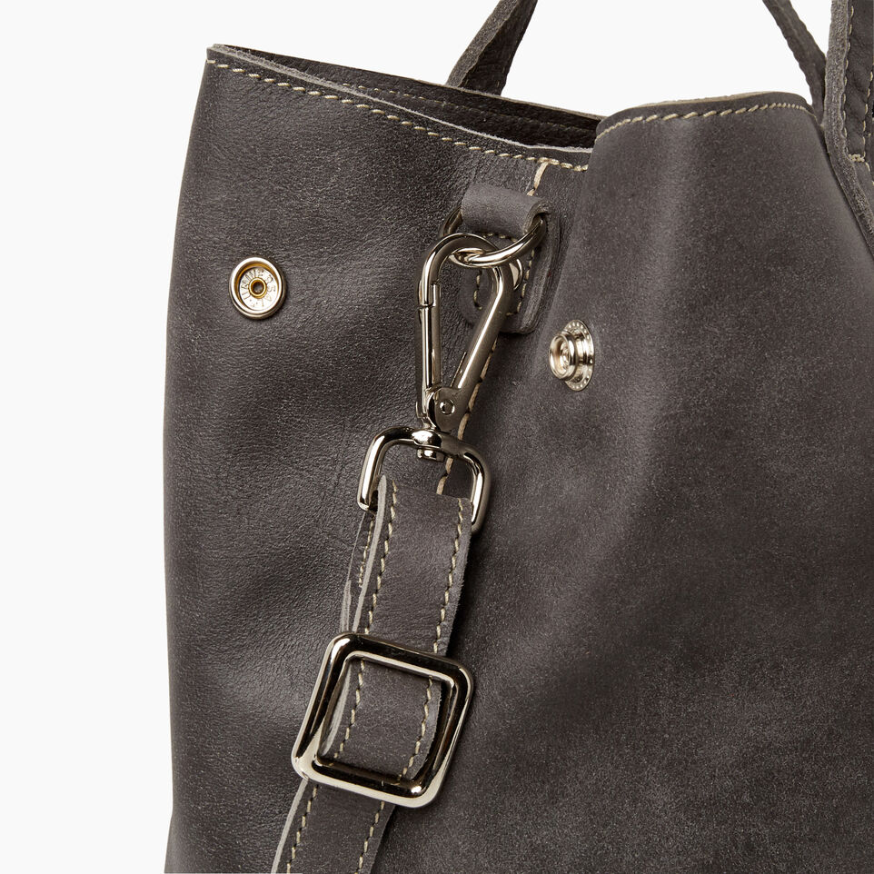 Roots-Leather New Arrivals-Amelia Tote-Charcoal-E