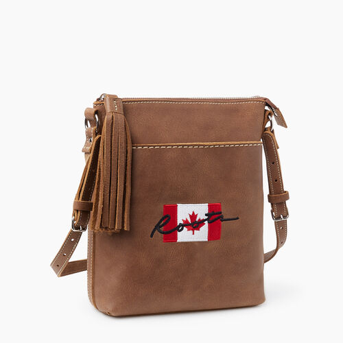 Roots-New For November Script Collection - Additional 40% Off-Script Canada Crossbody Tribe-Natural-A