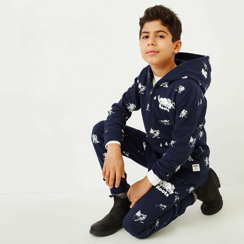 Roots-Sale Kids-Boys Hockey Aop Full Zip Hoody-Navy Blazer-A