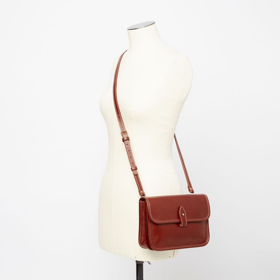 Roots-Winter Sale Leather-Sandys Bag Heritage-Oak-B