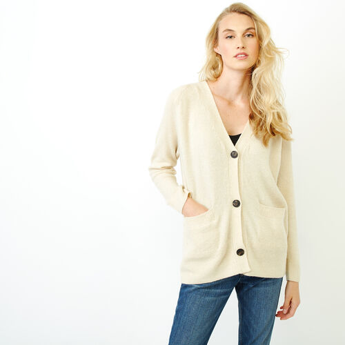 Roots-Women Our Favourite New Arrivals-Hemlock Button Cardigan-Fog Mix-A