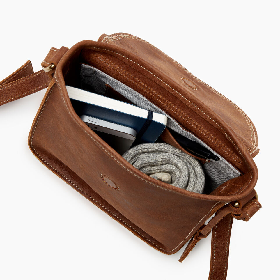 Roots-Leather Handbags-Canmore Crossbody Tribe-Natural-D