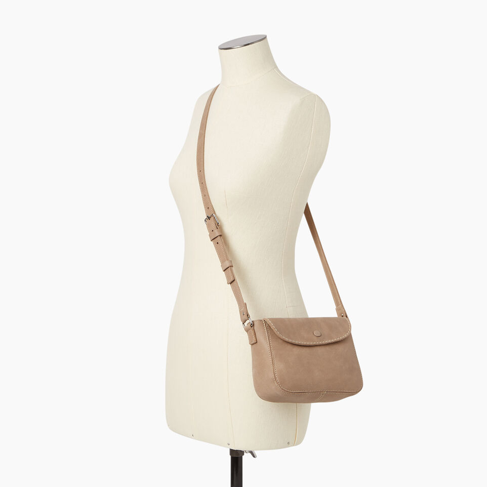 Roots-Leather  Handcrafted By Us Our Favourite New Arrivals-Riverdale Crossbody-Sand-B