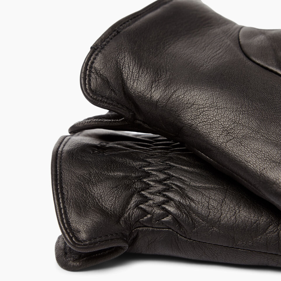 Roots-Women Leather Accessories-Womens Classic Nappa Glove-Black-D