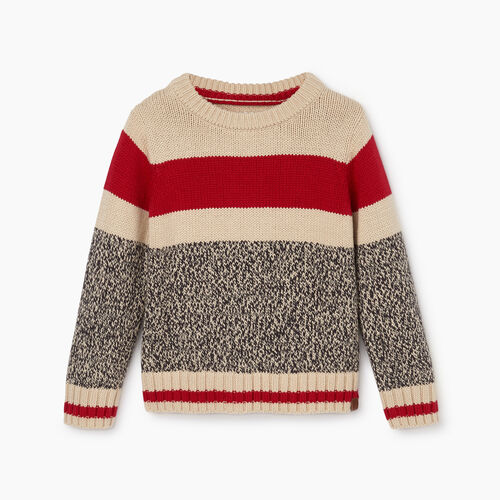 Roots-Kids Toddler Boys-Toddler Roots Cabin Crew Sweater-Grey Oat Mix-A