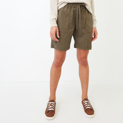 Roots-Women Shorts & Skirts-Essential Short-Fatigue-A